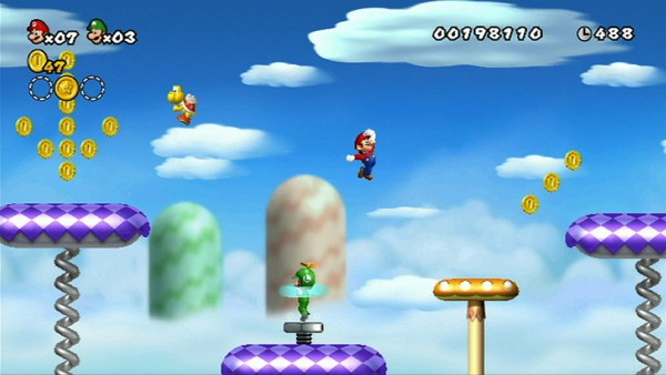 Instantly recognizable, there is no barrier to entry for New Super Mario Bros.